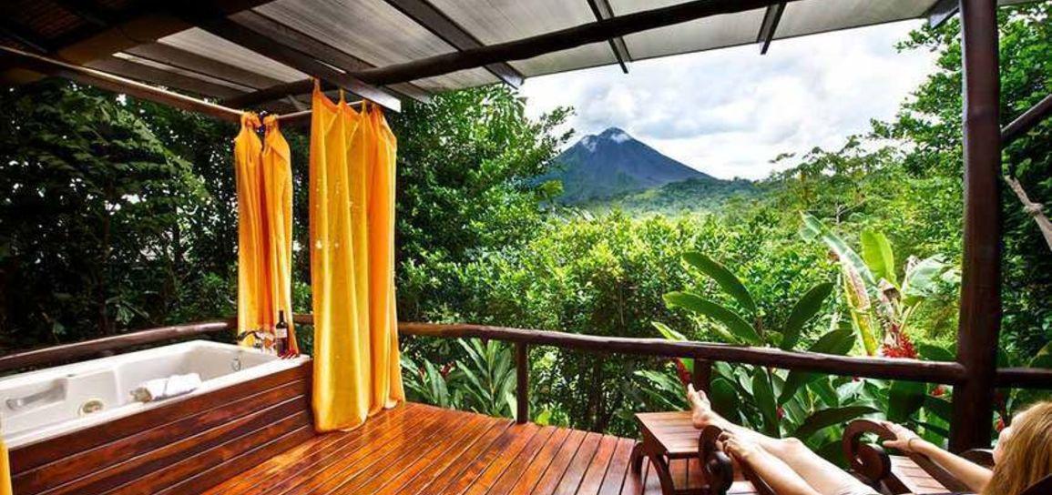Hôtel de charme, volcan Arenal