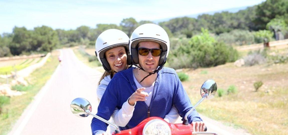 Balade à scooter, Formentera