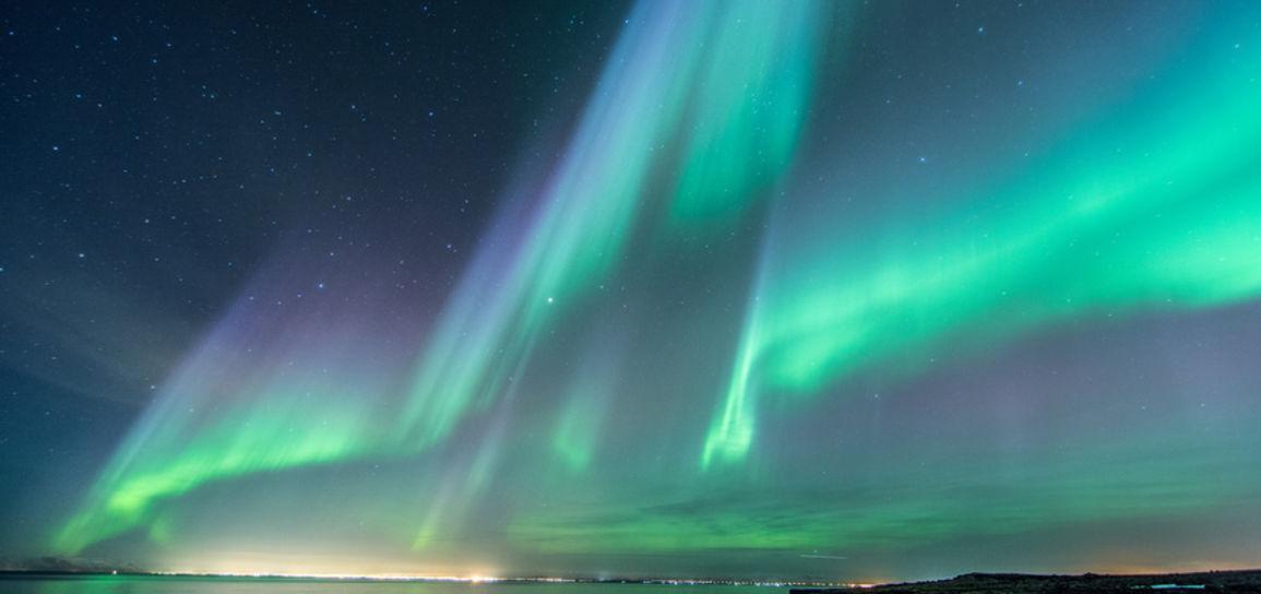 Aurore boréale, Islande