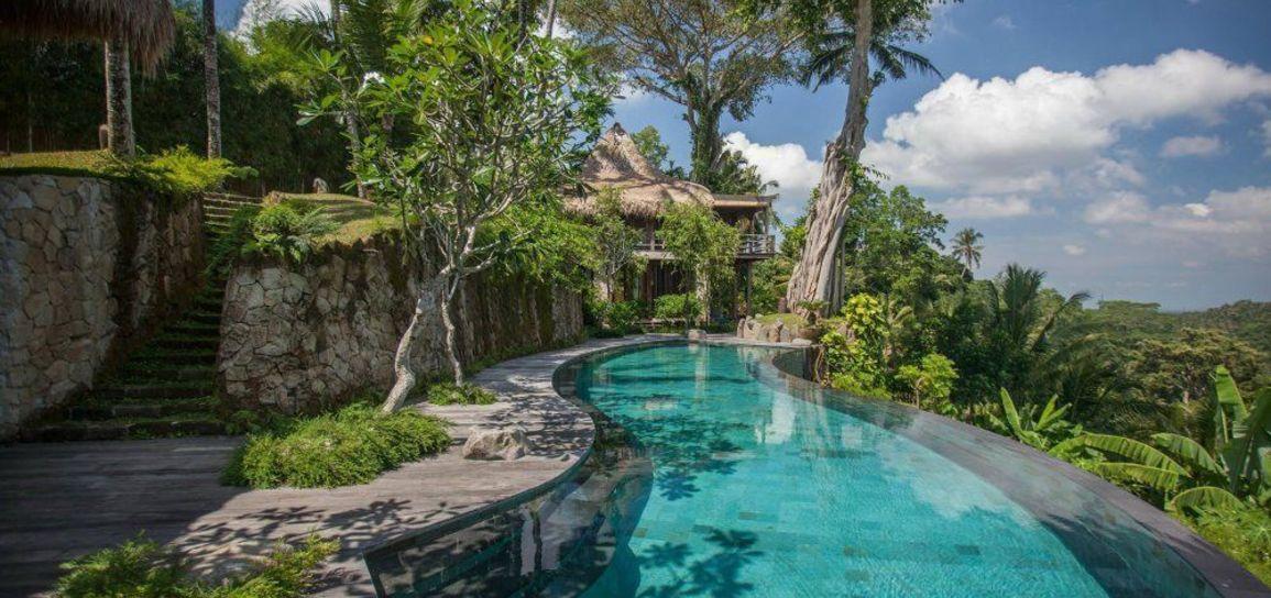 Villa traditionnelle, Bali, Indonésie