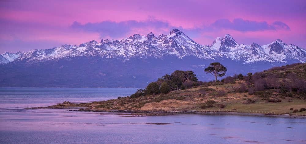 Les Andes depuis Ushuaïa