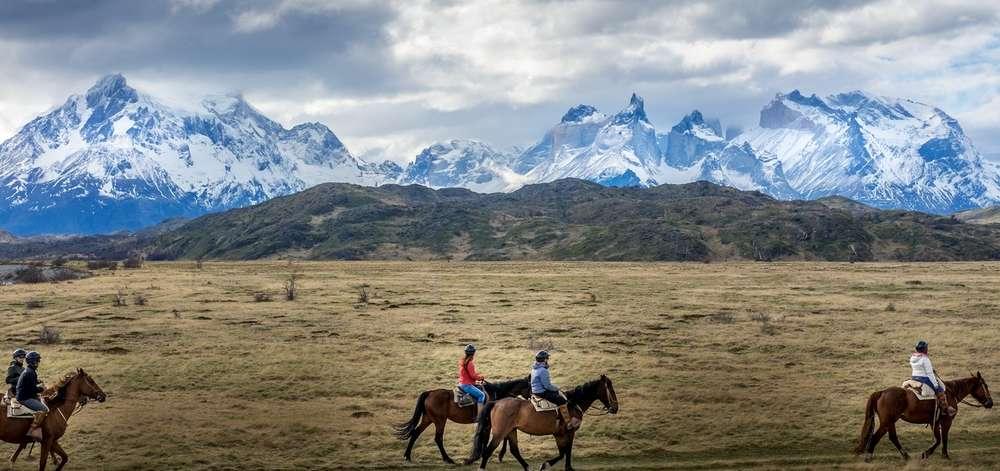 Equitation dans la Pampa Patagone