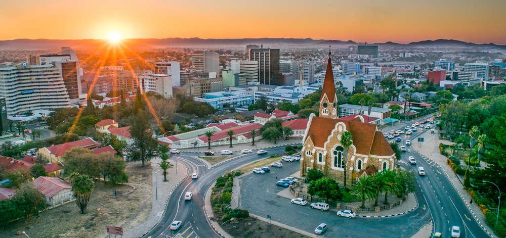 Coucher de Soleil sur Windhoek