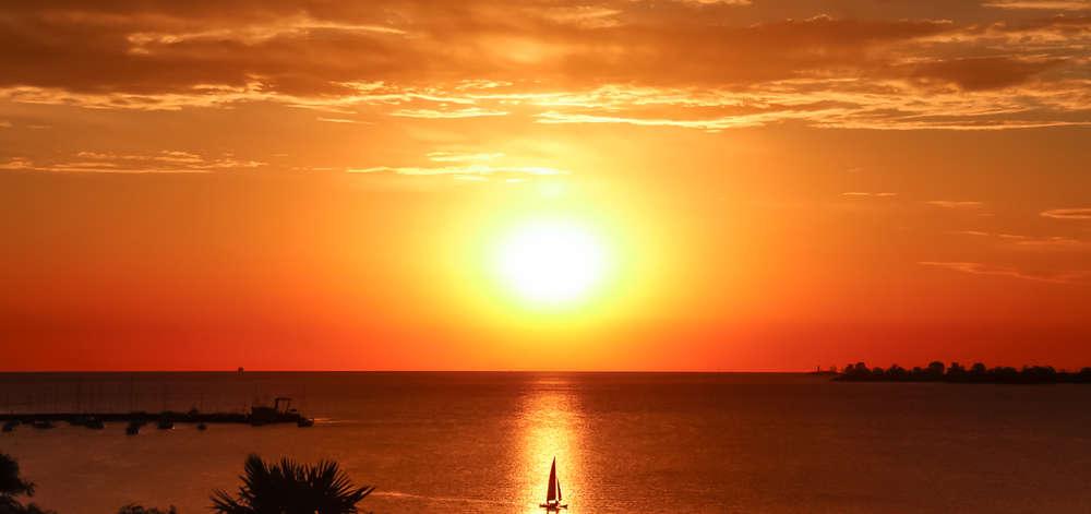 Coucher de soleil sur le Rio de la Plata