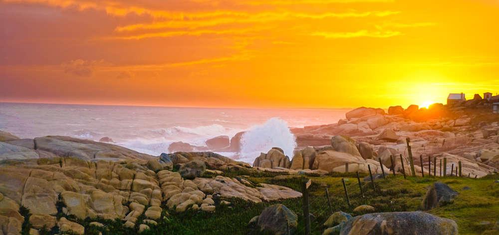 Coucher de soleil sur Cabo Polonio