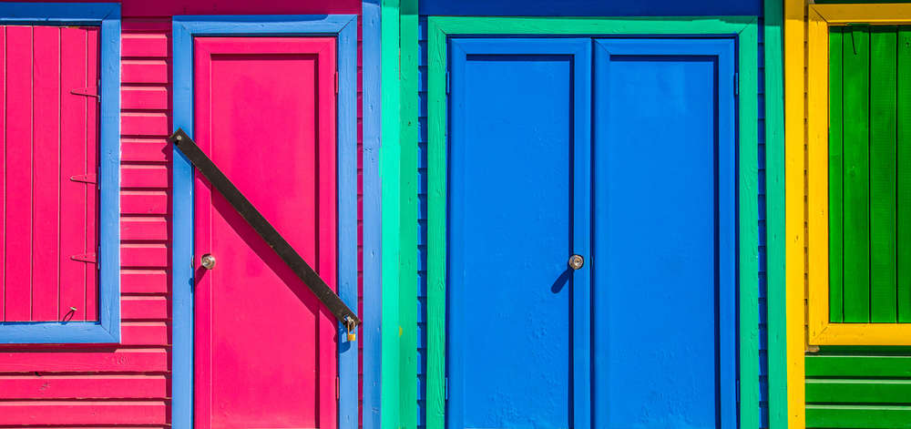 Cabanes colorées, Nassau, New Providence