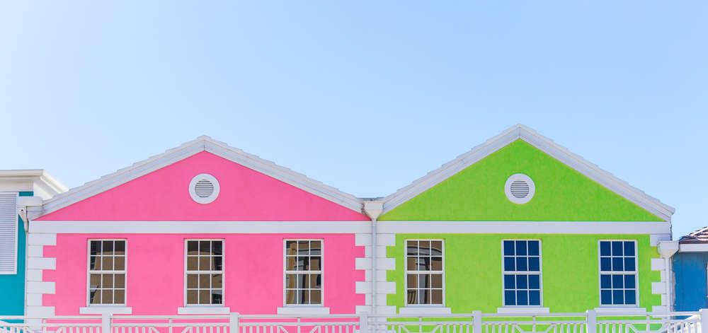 Maisons aux couleurs pastel, New Providence