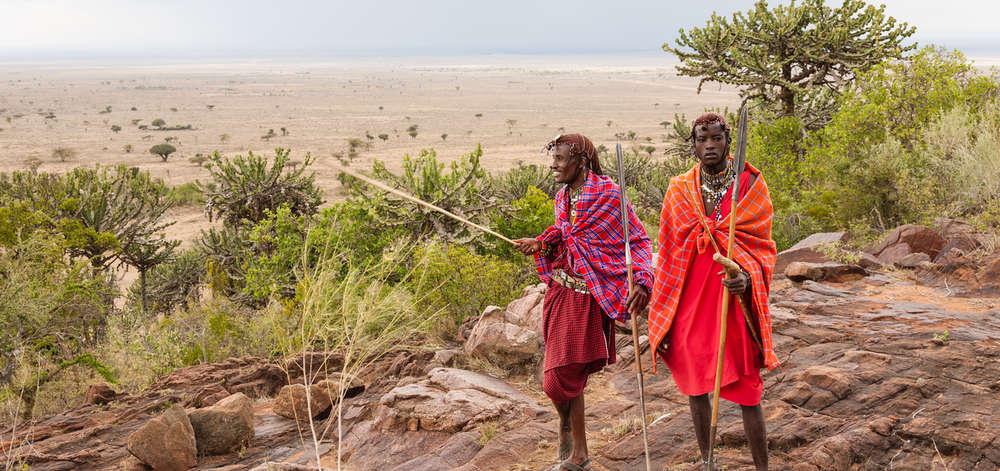 Masaïs dans la vallée du Rift