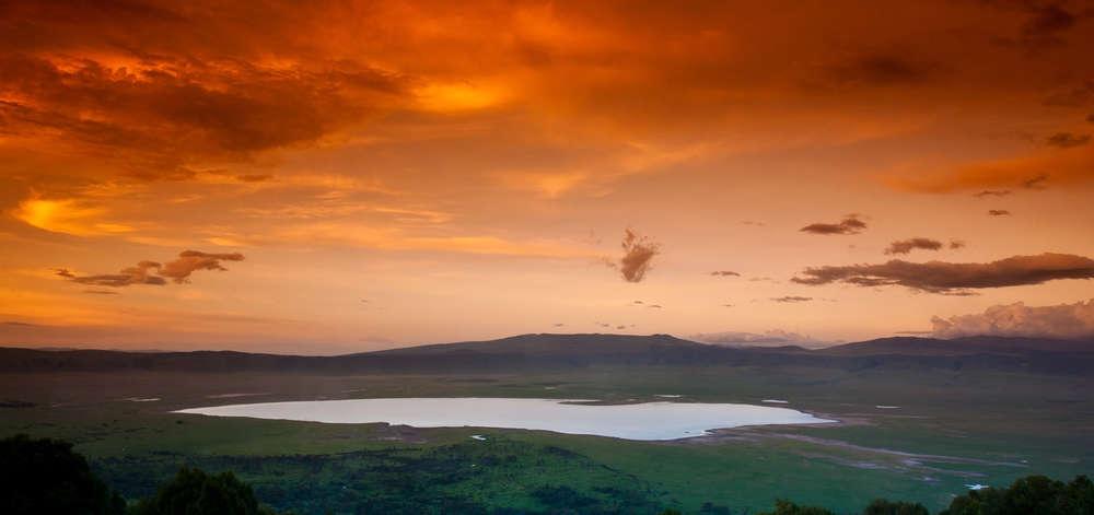 Coucher de Soleil sur le Cratère Ngorongoro