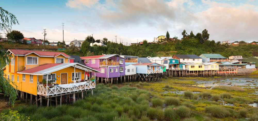 Maisons traditionnelle de l'île de Chiloé