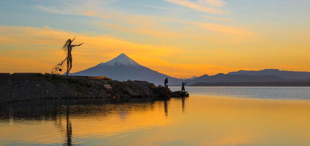 Coucher de soleil près de Puerto Montt